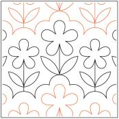 Garden-Breeze-quilting-pantograph-pattern-Apricot-Moon-Designs