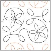 Ginger Spring quilting pantograph pattern from Apricot Moon Designs