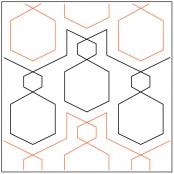 Hexcellent-quilting-pantograph-pattern-Apricot-Moon-Designs