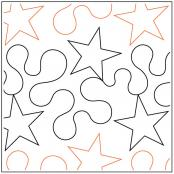 Star Shine quilting pantograph pattern from Apricot Moon Designs