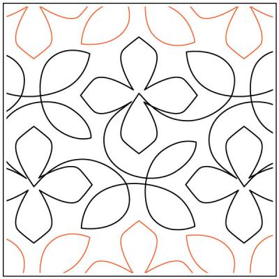 Elkweed-quilting-pantograph-pattern-Apricot-Moon-Designs