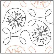 Ginger Ice quilting pantograph pattern from Apricot Moon Designs