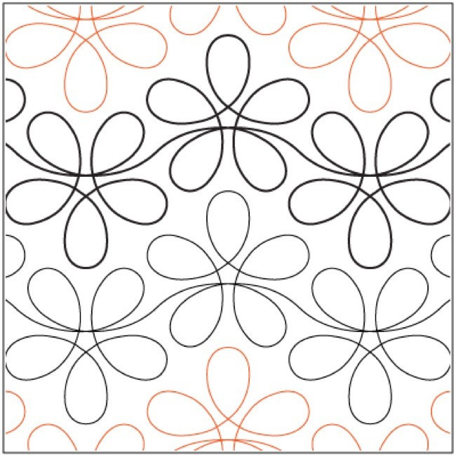 Flower-Child-quilting-pantograph-pattern-Apricot-Moon-Designs