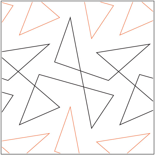 Triangle-Tangle-quilting-pantograph-pattern-Apricot-Moon-Designs