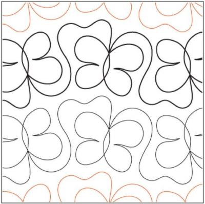 Butterfly Tango pantograph pattern from Apricot Moon Designs