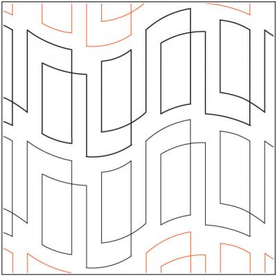 Hall of Mirrors pantograph pattern from Apricot Moon Designs