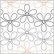 Flower Child pantograph pattern from Apricot Moon Designs