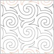 Hot-Cocoa-quilting-pantograph-pattern-Apricot-Moon-Designs