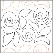 Rose-Garden-quilting-pantograph-pattern-Apricot-Moon-Designs