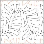 Woodland-Path-quilting-pantograph-pattern-Apricot-Moon-Designs