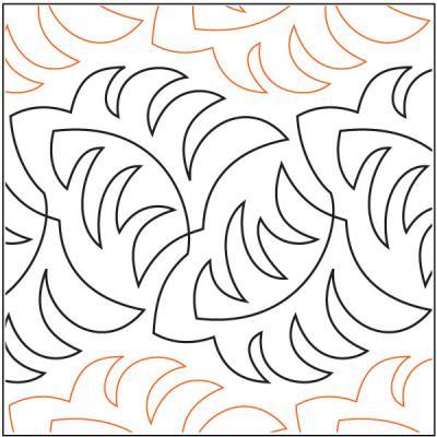 Becker's Ferns quilting pantograph pattern by Barbara Becker