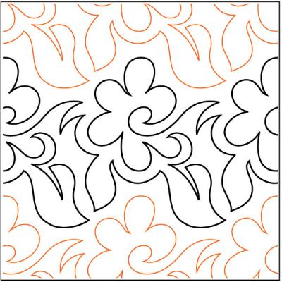 INVENTORY REDUCTION...Daisy Day quilting pantograph pattern by Barbara Becker