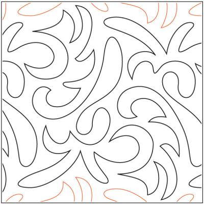 INVENTORY REDUCTION...Festival quilting pantograph pattern by Barbara Becker