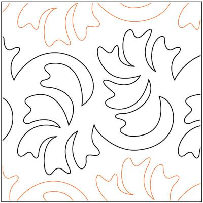 Flipping Frawns quilting pantograph pattern by Barbara Becker