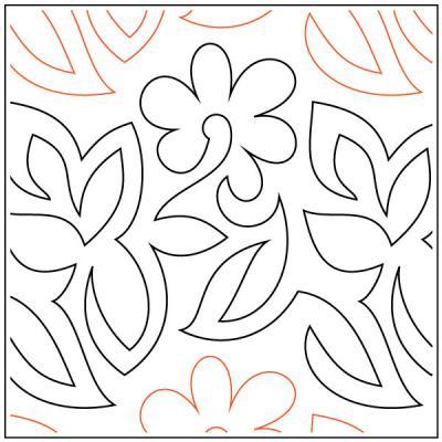 Garden Walk quilting pantograph pattern by Barbara Becker