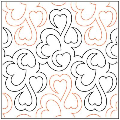 Hearts Entwined pantograph pattern by Barbara Becker