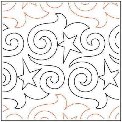 Party Time pantograph pattern by Barbara Becker