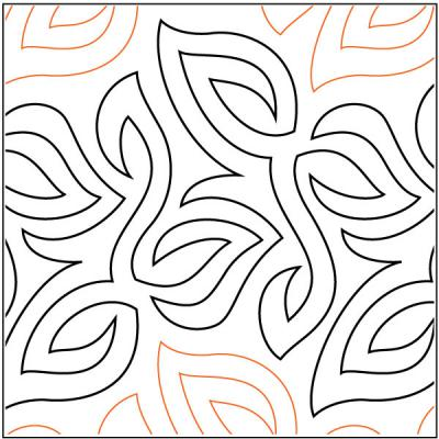 Ground Cover quilting pantograph pattern by Barbara Becker