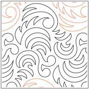 Becker's Dragon Tail quilting pantograph pattern by Barbara Becker
