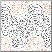 Becker's Dragon Tail quilting pantograph pattern by Barbara Becker 1