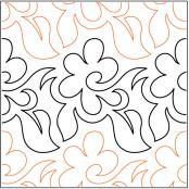 Daisy Day quilting pantograph pattern by Barbara Becker
