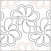 Feathers in Bloom pantograph pattern by Barbara Becker