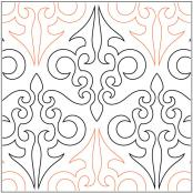 Fours Paws Filigree quilting pantograph pattern by Barbara Becker