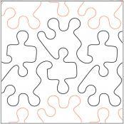 Jigsaw quilting pantograph pattern by Barbara Becker