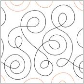 Loop the Loop quilting pantograph pattern by Barbara Becker