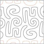 INVENTORY REDUCTION...Modernish #3 pantograph pattern by Barbara Becker