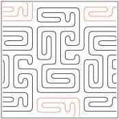 Modernish #4 quilting pantograph pattern by Barbara Becker