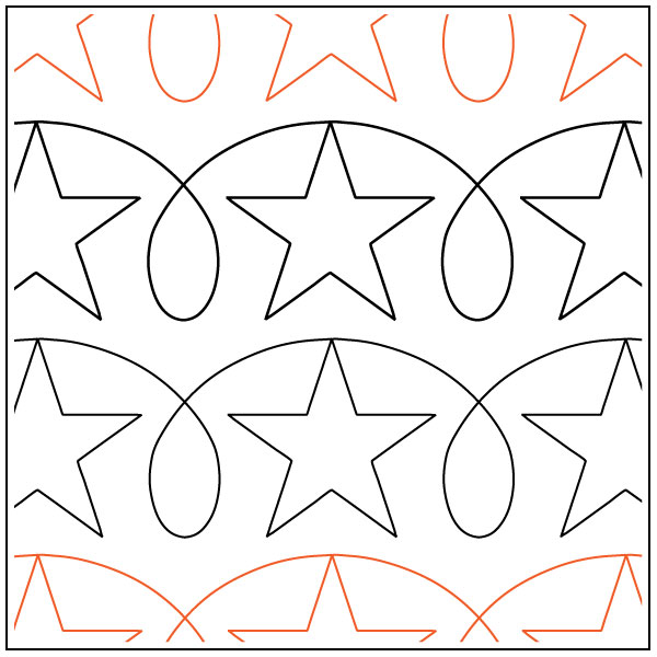 Stars-and-Loops-quilting-pantograph-pattern-Darlene-Epp