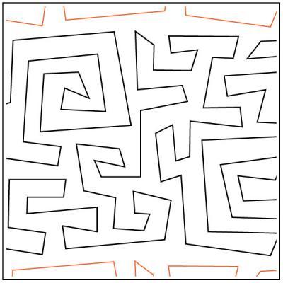 Crazy Mazey quilting pantograph pattern by Darlene Epp