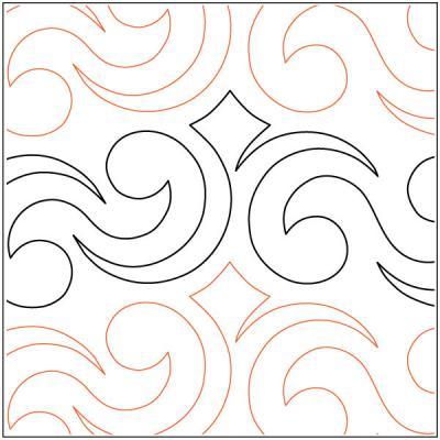 Crown-Jewels-Border-quilting-pantograph-pattern-Darlene-Epp