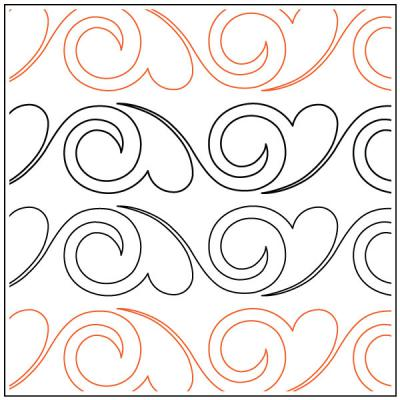 INVENTORY REDUCTION...Darlene's Feather and Swirl #1 quilting pantograph pattern by Darlene Epp