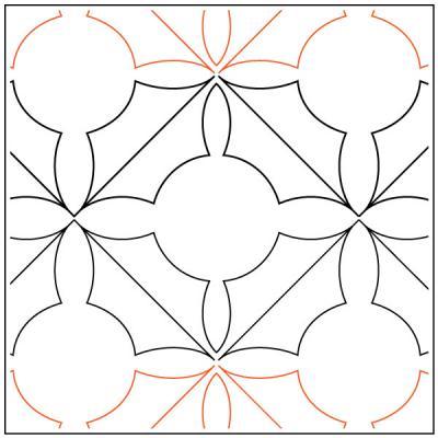 Darlenes Holly Leaf quilting pantograph pattern by Darlene Epp