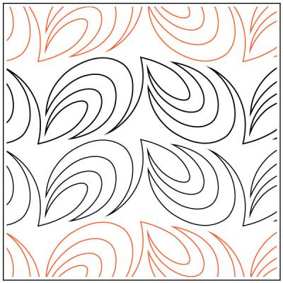 Paisley Border quilting pantograph pattern by Darlene Epp