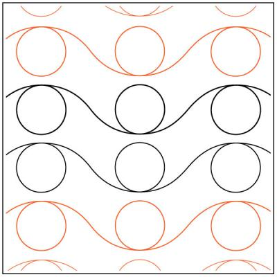 INVENTORY REDUCTION...Reverse Loop quilting pantograph pattern by Darlene Epp