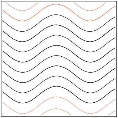 Serpantine quilting pantograph pattern by Darlene Epp