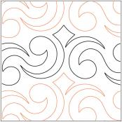 Crown-Jewels-Border-quilting-pantograph-pattern-Darlene-Epp