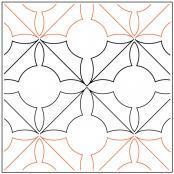 Darlenes Holly Leaf quilting pantograph pattern by Darlene Epp 1
