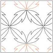 Leaf quilting pantograph pattern by Darlene Epp