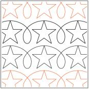 Stars 'n Loops quilting pantograph pattern by Darlene Epp