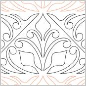 Budding-Ferns--quilting-pantograph-pattern-Darlene-Epp-1