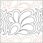 Feather-Flower-Border-quilting-pantograph-pattern-Darlene-Epp
