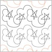 Stars-n-Clouds-quilting-pantograph-pattern-Darlene-Epp