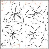 Trillium-Leaf-quilting-pantograph-pattern-Darlene-Epp