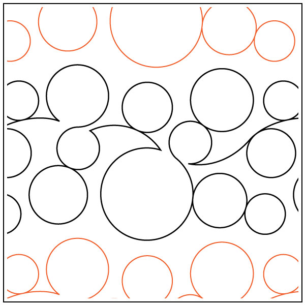 More-Bubbles-Border-quilting-pantograph-pattern-dave-hudson
