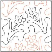 Daves-Daffodil-quilting-pantograph-pattern-dave-hudson