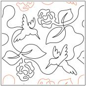 Hummingbird-with-flowers-quilting-pantograph-pattern-dave-hudson